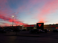 Canadian Tire Civil Twilight (Computer Science Geek) Tags: sky ontario clouds twilight peterborough canadiantire civiltwilight lumixg20mmf17asph