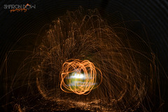 Light Painting (Sharon Dow Photography) Tags: uk light orange lightpainting fire lights nikon tunnel lighttrails southeast southdowns wirewool corrugatedsteel a29 slinfold southdownslink d3100 slinfoldtunnel