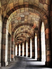 Arcade Congresshall Nuremberg / Germany (Habub3) Tags: city travel light holiday building texture stone architecture germany deutschland licht search reisen nikon europa europe arch walk urlaub nuremberg arcade perspective arc historic hallway steine stadt architektur bauwerk schatten hdr vacanze nrnberg 2012 geschichte d300 schadow congresshall serach reichsparteitag arkadengang habub3 mygearandme konkresshalle