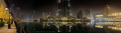 Dubai Fountain @ 4:00am (Charn High ISO Low IQ) Tags: longexposure nightphotography panorama moon building lamp canon eos lights dubai cityscape uae eid earlymorning shoppingmall 4