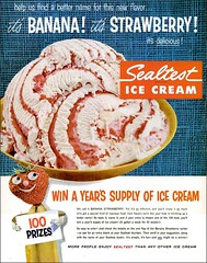 1957 Banana Strawberry Sealtest Ice Cream (1950sUnlimited) Tags: food design desserts icecream 1950s packaging snacks 1960s dairy midcentury snackfood sealtest