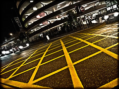 Newcastle upon Tyne . The circular car park. Haymarket. (CWhatPhotos) Tags: night shot evening box road angle view carpark car park haymarket round circular photograph with picture pictures photo photos image images foto fotos that have which contain olympus epl1 1442mm cwhatphotos newcaslte upon tyne city centre yellow color colour 2012 partial part coloring colouring flickr