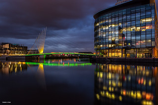 Foot bridge - Salford Quays - Manchester