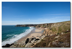 Porthcurno (Simon Bone Photography) Tags: sea seascape beach coast sand cornwall cliffs coastal landsend coastline porthcurno minacktheatre beachscape logansrock wwwthehidawaycouk canonef1740mmlf4 canoneos5dmkii