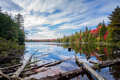 Peck Lake, Algonquin Park, Ontario, Canada (Christopher Brian's Photography) Tags: longexposure trees ontario canada colour forest autumnleaves algonquinpark uwa canonefs1022 leefilters canoneos7d leebigstopper