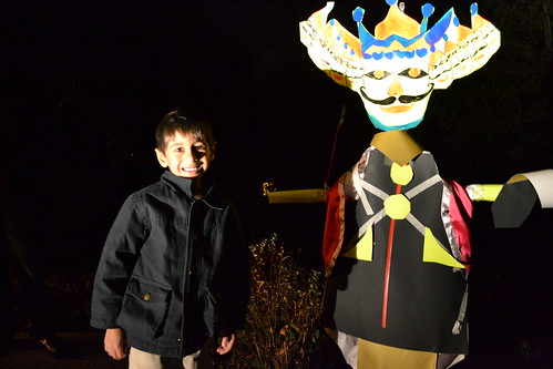 Nephew with Ravana before the fireworks