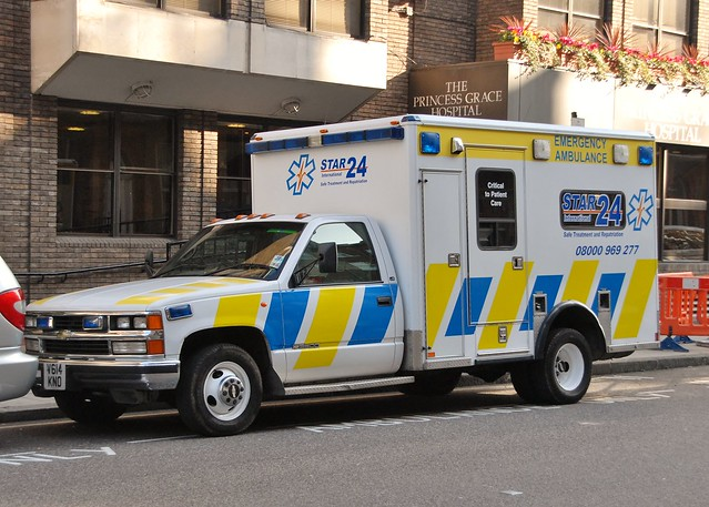 london chevrolet private ambulance emergency v614kno starinternational24