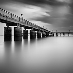 Labrador Jetty in Mono (Glen Espinosa Photography) Tags: longexposure blackandwhite blackwhite singapore labradorpark canon1740f4 longexposurephotography nd110filter labradornaturereserve bwnd110 labradorparksingapore canon5dmii leegndfilters labradorsingapore