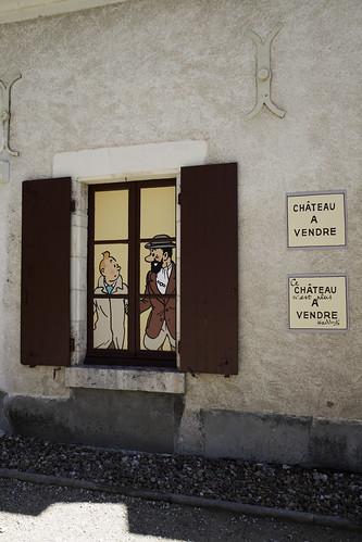 Château de Cheverny : rencontre avec Tintin