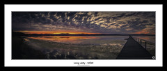 EXPLORE #85 - Long Jetty - NSW (John_Armytage) Tags: sunset panorama seascape zeiss reflections dusk pano jetty australia panoramic nsw canon5d longjetty centralcoastnsw novaflex carlzeiss50ml14
