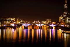London bridge & tower bridge (mike_murray) Tags: bridge london tower thames towerbridge nightscape nightlife riverthames londonatnight ilovelondon londonbuildings theshard londonlongexposures