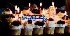 Pull apart cake (diffuse) Tags: birthday cake candle nine flame cupcake lit eleven 2012 pullapartcake 12nov17b
