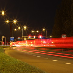 Entering Nieuwegein (Noutyboy) Tags: longexposure light holland netherlands night canon stars eos 50mm noche licht movement long exposure darkness nightshot traffic nacht nederland thenetherlands trail le enter f18 70 nuit entering nieuwegein nachtfotografie 550 lighttrail sterren nout 550d ketelaar lichtspoor eos550d flickrbronzetrophygroup noutyboy