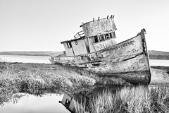 wreck (eb78) Tags: california ca bw abandoned monochrome landscape boat ship marin shipwreck pointreyes grayscale wreck derelict inverness greyscale tomalesbay sspointreyes