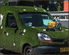 The gardener. (gos1959) Tags: tractor green grass car work copenhagen gardener thegalaxy tåstrup højetåstrup gynther mygearandme