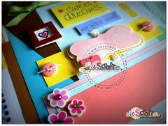 Livro do Beb Sweet Dreams (Le Scraft) Tags: flores verde rio riodejaneiro scrapbook scrapbooking rj rosa amarelo beb menina scrap pssaros niteroi niteri nascimento maternidade anotaes livrodobebe lbumdobeb livrodobeb