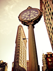 Flatiron Building and 5th Avenue Building Clock - New York City (Vivienne Gucwa) Tags: nyc newyorkcity skyscraper manhattan castiron gothamist flatironbuilding curbed steampunk urbanphotography streetclock wnyc nycphoto cityphoto nycskyscraper mobilephotography cityphotography newyorkphoto castironarchitecture newyorkphotography nycphotography newyorkcityphotography iphonography newyorkskyscraper manhattanskyscraper castironclock steampunkclock iphoneography fifthavenuebuildingclock fifthavenueclock 5thavenueclock 5thavenuebuildingclock nycclock instagram viviennegucwa viviennegucwaphotography nycinstagram newyorkcityinstagram nycmobilephotography newyorkcitymobilephotography