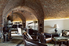 (The New Motive Power) Tags: old sea brick architecture bar hotel quiet conversion fort furniture interior military curves lounge victorian arches structure historic solent portsmouth venue fortress deserted defence southsea refurbishment spitbank canon7d