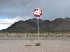 Area 51 Road Trip (Terry Hassan) Tags: road usa sign track nevada alien roadtrip ufo dirt stop area51 extraterrestrialhighway groomlake stateroute375