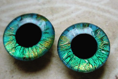 "Handpainted Blythe Eyechips ""Fine Lines - Turquoise"""
