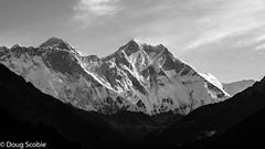 Lhotse wall (Scobie62) Tags: nepal blackandwhite bw white black himalaya khumbu everest lhotse easternregion namchevdc