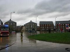 Ruthin floods 2012 #5 (cyber_arts) Tags: rain floods ruthin northwales newhousingestate glasdir november2012