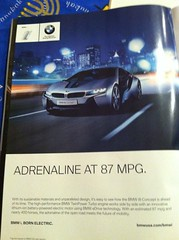 BMW Electric Vehicle ad (Greenlivingguy) Tags: greencars electriccars greenliving greenbusiness greenlivingnews