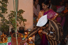 Datta and family perform Tulsi Vivaah puja... (Raju Bist) Tags: