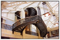 Rookery Building ~ Chicago IL ~ Staircases ~ Lobby (Onasill ~ Bill Badzo) Tags: county school chicago building stone architecture john frank design illinois iron stair daniel interior cook style case historic il staircase lloyd restoration register wright root architects 1886 registry burnham rookery wrought onasill