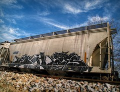 What a great way... (builder24car) Tags: railroad graffiti lets perspective trainart lerch freighttraingraffiti paintedboxcar benchingthefreights