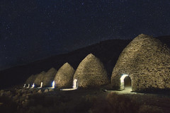 charcoal kilns (Andy Kennelly) Tags: california mountains night dark stars death shot kilns historic charcoal valley after panamint yahooeditorial
