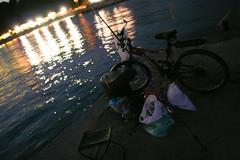 Fisherman and his Bike (Daniel.Dimitrov) Tags: bike fisherman blacksea varna
