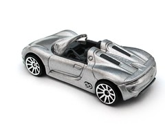 HotWheels - Porsche 918 Spyder (Leap Kye) Tags: door new two green car metal silver grey spider model automobile open top tail rear models automotive super spyder ferdinand porsche hotwheels ag plug 164 concept fin hybrid electronic coupe diecast 918 2013 armedclown309