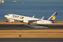 Skymark Airlines B737-86N (JA737R) (TFG Lau) Tags: canon airplane eos tokyo aviation jet aeroplane 5d boeing canoneos spotting 737 haneda hnd b737 planespotting boeing737 eos5d b738 rjtt skymarkairlines ja737r