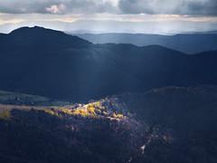 Radiša Živković - So many roads (Radisa Zivkovic) Tags: road autumn light shadow sunlight mountain yellow forest landscape nikon scenery europe ray crossing hill serbia beam layers srbija golija planina