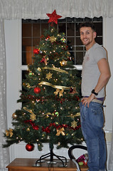 Alex and his Tree.............. (MWBee) Tags: nikon christmastree underpants alexpool d5000 mwbee me2youphotographylevel1