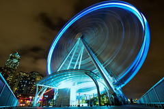Seattle's Great Wheel Spinning