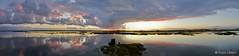 Panorama - Faro Sunset (Bruno Lázaro) Tags: sunset sea sky panorama costa sol portugal water clouds river cores faro agua do colours dusk line nuvens algarve terra reflexo ceu por ria tarde entardecer linha