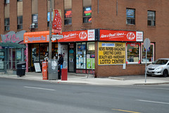 DSC_0851 v2 (collations) Tags: toronto ontario architecture documentary vernacular kitkat streetscapes builtenvironment yongest cornerstores conveniencestores urbanfabric varietystores yongegiftsvariety