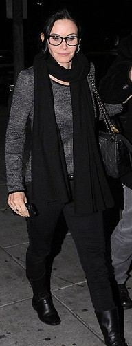 Courteney Cox wearing glasses   NEW