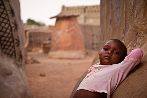 Young girl in Tiebele, Burkina Faso