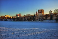 Ensemble of the Novodevichy Convent (Gena Golovskoy) Tags: snow day russia moscow ensemble convent novodevichy pwwinter