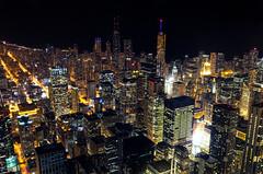 Chicago HDR (benchorizo) Tags: city longexposure urban chicago buildings nikon downtown cityscape nightshot searstower trumptower hdr downtownchicago johnhancockbuilding chicagoskyline chicagoist banias citynights d7000 willistower downtownt benchorizo romeobanias
