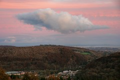 Intrusion (Jo) Tags: sunset cloud mountain wales sunrise landscape high view hill cardiff viewfromthehill caerphillymountain flickrandroidapp:filter=none