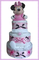 Minnie mouse nappy cake (Labours Of Love Baby Gifts) Tags: babygift nappycake nappycakes newbabygifts laboursoflovebabygifts