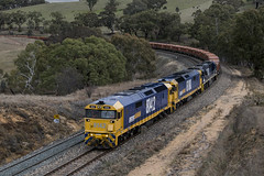 """2016-07-11 Pacific National 8142-8180-8218 Gemalla 8934 (Dean """"O305"""" Jones) Tags: west rural pacific au main australia line national nsw mineral newsouthwales locomotive ore bulk cadia 8142 8934 blayney 8180 8218 containerised gemalla"""