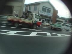 ordinary traffic (-ICHIRO) Tags: street snap yashica ez f525 toy camera wide lens