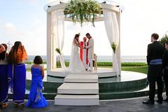 Yusuf & Saira's wedding (yohanawu) Tags: kiss weddingkiss wedding beach bali sunset bride groom love matrimony married firstkiss blessed party seaside seaview weddinggown flowers beautiful 2016 seminyak villa indonesia beautifulday