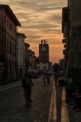 Sunset in Cascina (gionatatammaro) Tags: tramonto sunset nuvole clouds samsungnx3000 samsung street strada centrostorico