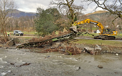 371. That was 'our' bridge, that was!! (J.C. Carter) Tags: cumbria lakeland lakedistrict keswick rivergreta bridge wreckage destruction damage stormdesmond flood heavymachinery workinprogress knightsbridge